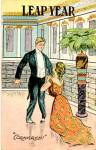 Click here to enlarge image and see more about item PLY1: Vintage Leap Year Postcard Man & Lady