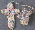 Vintage Crocheted Cross Bookmark