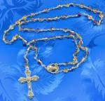 Click here to enlarge image and see more about item RC2: Crystal Czech Rosary
