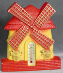 Click here to enlarge image and see more about item SCWR5: Vintage Windmill Thermometer