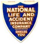 Click here to enlarge image and see more about item SNC9: Vintage National Life Insurance Sewing Needle Book