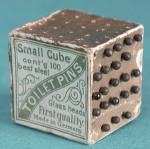 Click here to enlarge image and see more about item SVPC18: Victorian German Toilet Pins Cube