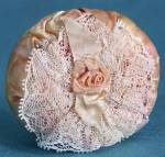 Click here to enlarge image and see more about item SVPC21: Vintage Satin Pin Cushion