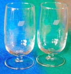 Click here to enlarge image and see more about item T22: Vintage United Airlines Logo Stemmed Glasses