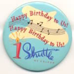 Click here to enlarge image and see more about item T4: United Airlines Shuttle Happy Birthday To Us