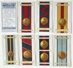 Click here to enlarge image and see more about item TCCP4: Army Ribbons & Buttons Cigarette Cards
