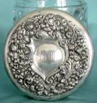 Click to view larger image of Vintage Pressed Glass Humidor (Image2)