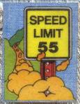 Click here to enlarge image and see more about item TCJ29: Cracker Jack Toy Prize: Mini Iron-Onics Speed Limit