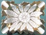 Vintage White & Gold AshTray