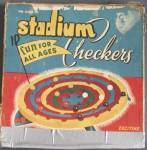 Click here to enlarge image and see more about item TG192: Vintage Stadium Checkers Game