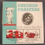 Click here to enlarge image and see more about item TG257: Vintage Checker Coasters