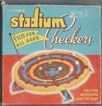 Click here to enlarge image and see more about item TG375: Vintage 1952 Stadium Checkers Game