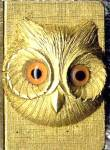 Click here to enlarge image and see more about item TOBMAT7: Vintage Florenza Owl Match Box Holder