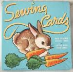 Click here to enlarge image and see more about item TOYGEN153: Whitman Child's Sewing Cards in Original Box