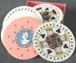 Click here to enlarge image and see more about item TOYGEN178: Vintage Discus Round Playing Cards