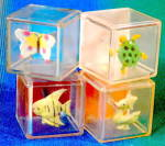 Vintage Plastic Animal Blocks Set of 4