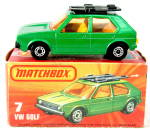 Click here to enlarge image and see more about item TT27: Matchbox Lesney No.7e Volkswagen Golf In Box