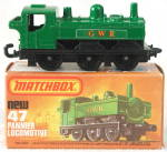 Click here to enlarge image and see more about item TT28: Matchbox Superfast #47 Pannier Locomotive In Box