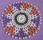 Click here to enlarge image and see more about item TVD5: Vintage Beaded Doily