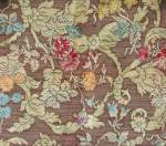 Click here to enlarge image and see more about item TVFAB15: Vintage Raised Floral Design Upholstery Sample
