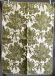 Click here to enlarge image and see more about item TVFAB7: Vintage Olive & White Fabric