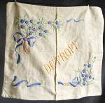 Click here to enlarge image and see more about item TVPC1: Vintage Detroit Pillow Cover