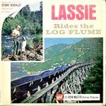 Click here to enlarge image and see more about item TVR39: Lassie Rides the Log Flume View-Master Packet
