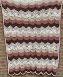 Click here to enlarge image and see more about item TVTHR3: Brown Fancy Ripple Afghan