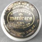 Click to view larger image of Vintage Courtenay's Manicare Jar (Image1)