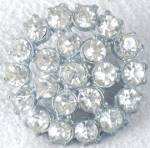 Click here to enlarge image and see more about item VBUT72: Vintage Metal Rhinestone Button
