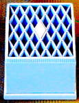 Click to view larger image of Vintage Blue Quilted Look Ring Box (Image1)