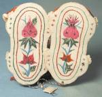 Click to view larger image of Vintage Embroidered Red Cat Baby Slippers (Image3)