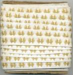 Click here to enlarge image and see more about item VST5: Vintage Gold & White Embroidered Trim