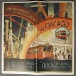Click here to enlarge image and see more about item WFEC10: Chicago World's Fair: See Chicago, Surface Lines