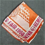 Click here to enlarge image and see more about item WFEG3: World's Fair Hemisfair's San Antonio Large Scarf