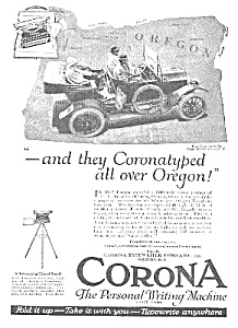 1920 CORONA TYPEWRITER in Open Car Mag. Ad! (Image1)