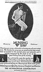 1925 Munsingwear MEN'S UNDERWEAR  Ad (Image1)