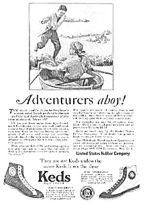 1926 Keds Sneakers Magazine Ad L@@k