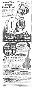 1927 Hawaiian Guitar Music Room Ad