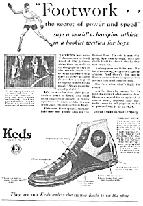 1927 Keds Sneakers Magazine Ad L@@k