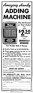 1945 Hand ADDING MACHINE - Calculator Magazine Ad (Image1)