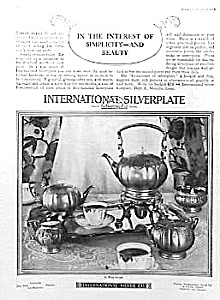 UNUSUAL 1926 LE BRUN Silver Tea Set Ad (Image1)