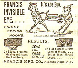 1895 Sewing Ad FEATURING BROWNIES - Cute!! (Image1)