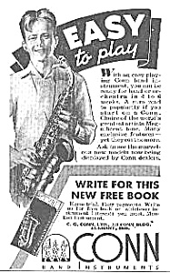 1938 CONN SAXOPHONE Music Room Ad (Image1)