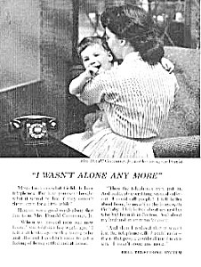 1958 BELL TELEPHONE Old Phone Ad (Image1)