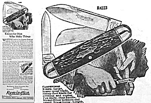 1928 Remington Pocket Knife Ad