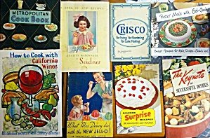 Lot Of 8 Collectible Antique Advertising Cook Books