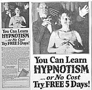 1929 LEARN HYPNOSIS You Are in My Power AD! (Image1)