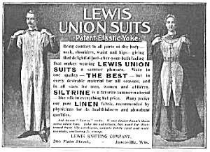 1899 Union Suit Underwear Ad