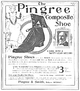 Great 1899 PINGREE Composite SHOE Mag. Ad (Image1)